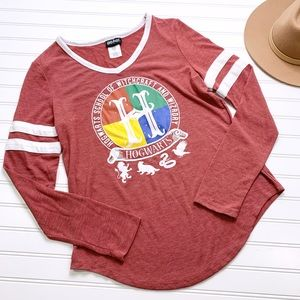 HARRY POTTER red maroon long sleeve graphic tee